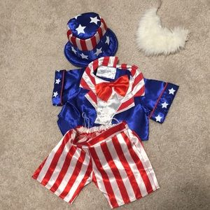 Build-a-Bear Red, White and blue outfit
